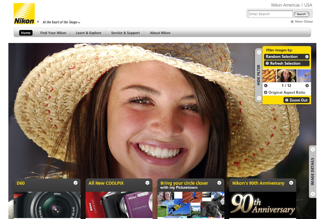 Nikon Website