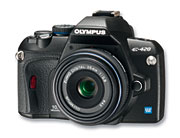 Olympus E-420 Front Angle