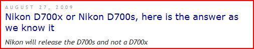 Nikon D700s