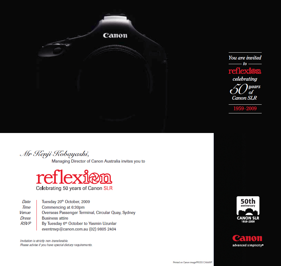 Canon Invitation
