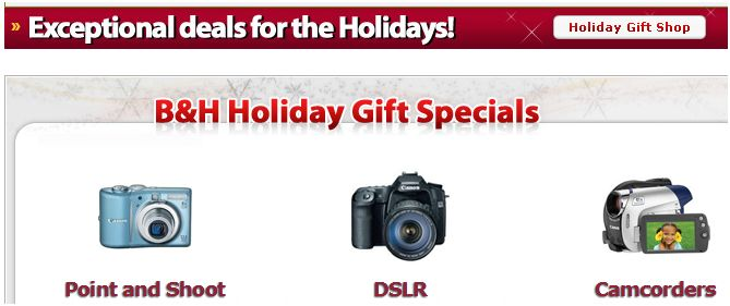 B&H Holiday Deals