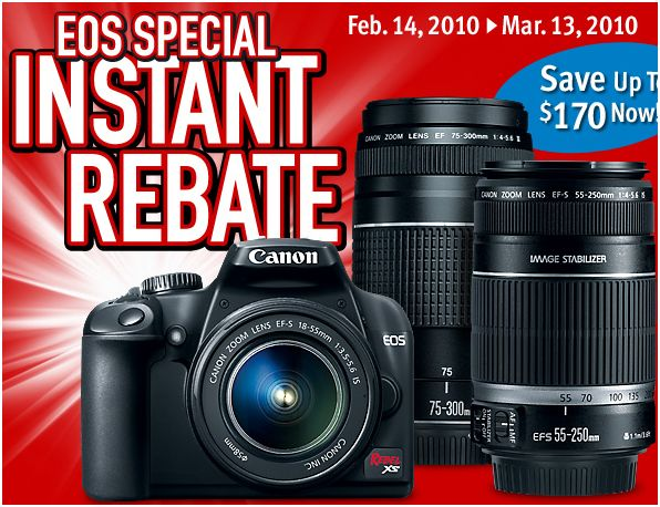 Canon Rebel XS Instant Rebate