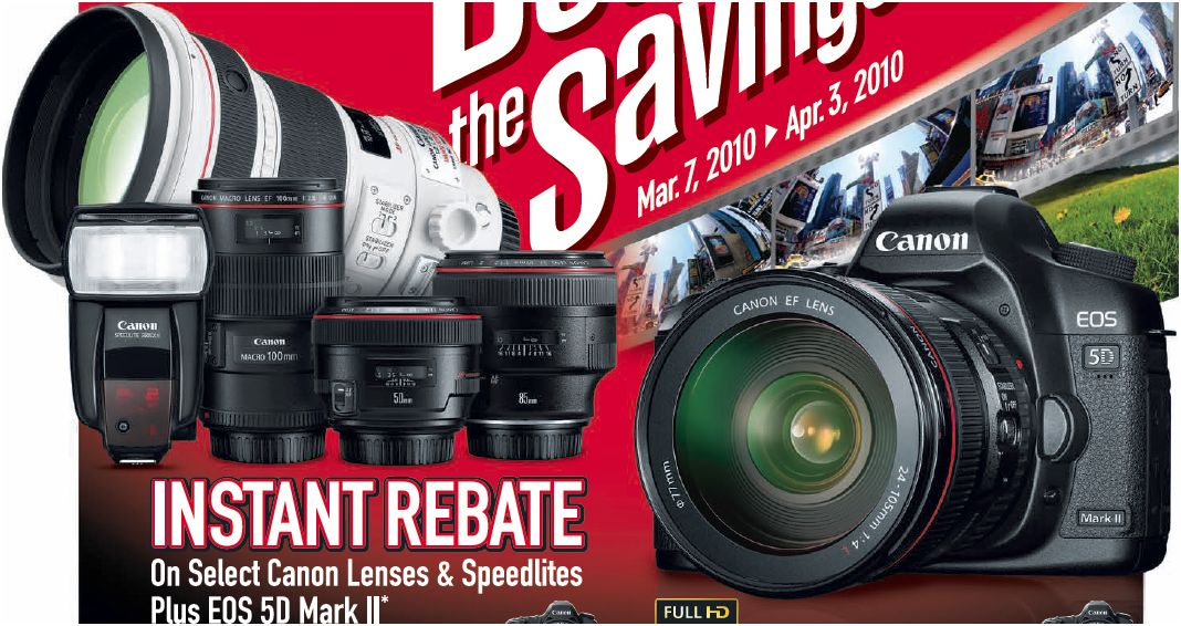 Canon Spring 2010 Rebates