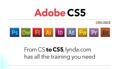 Adobe CS5 at Lynda