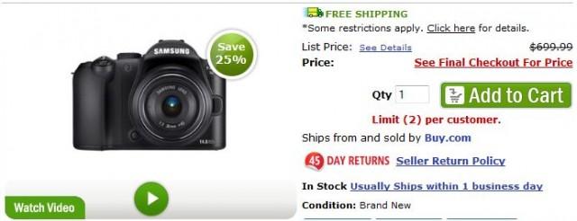 Samsung NX10 Deal