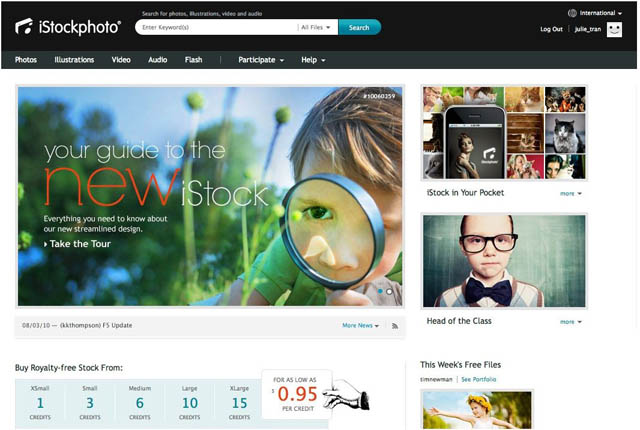 iStock New Design