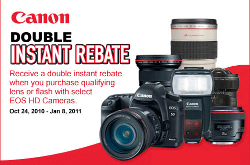 Canon Doulbe Lens Rebates