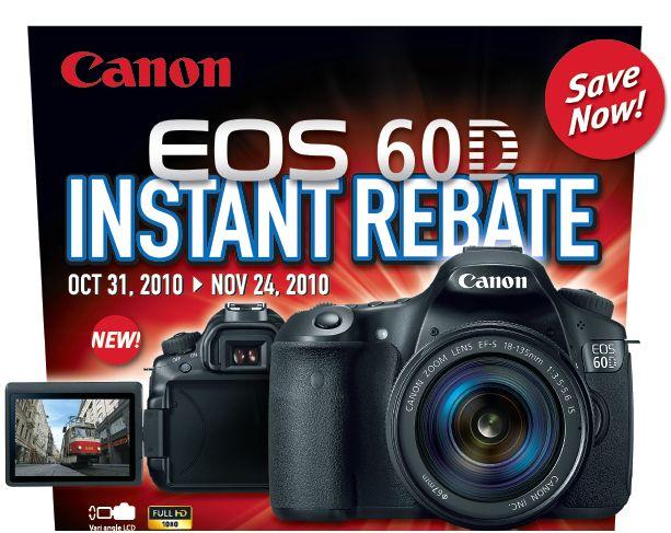 Canon 60D Rebate