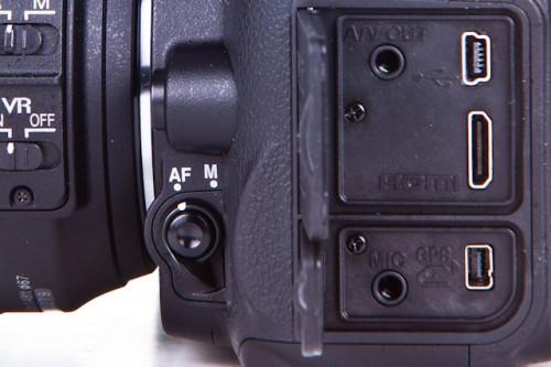 Nikon D7000 Side Ports