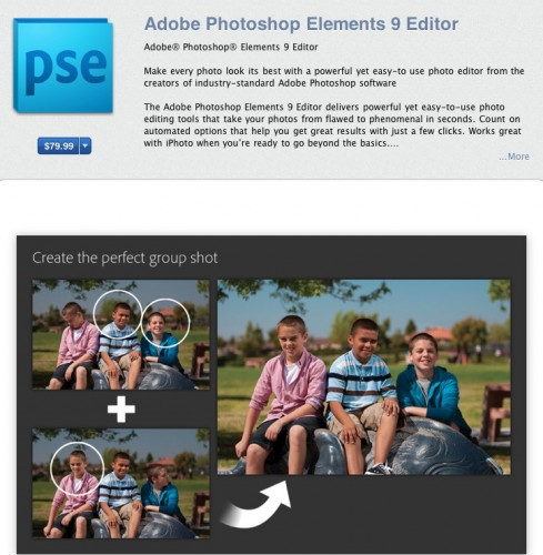 Photoshop Elements 9 Mac App Store