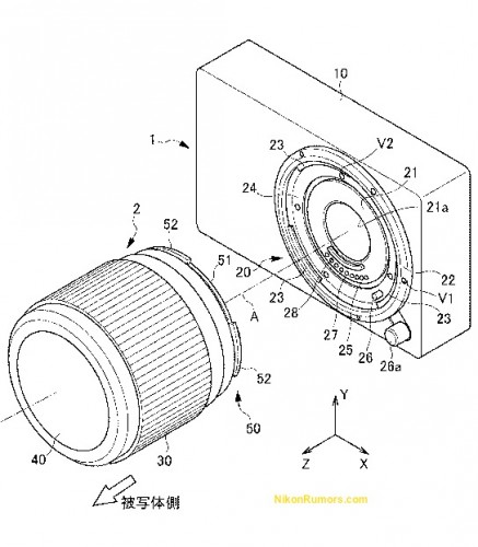 Nikon Patent Application for Mirrorless Camera