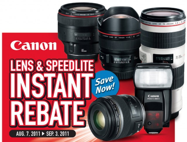 Canon Summer 2011 Lens Rebates