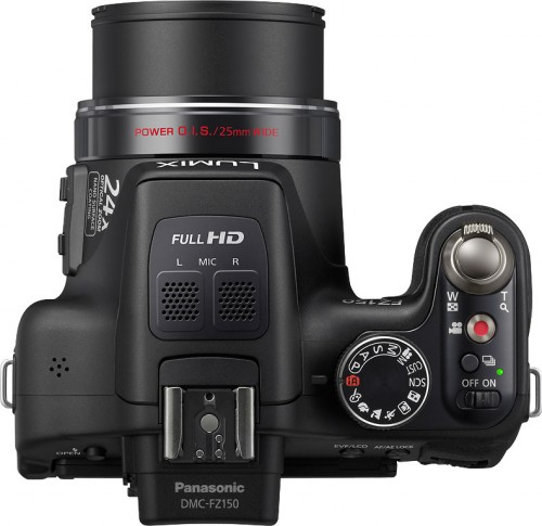 Panasonic FZ150 Top