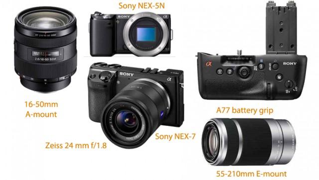 Sony NEX-7 and NEX-5N