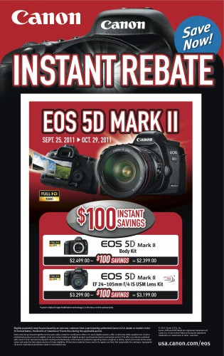 Canon 5D Mark II Rebate