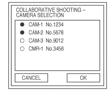 Canon Collaborative Shooting Camera Selection