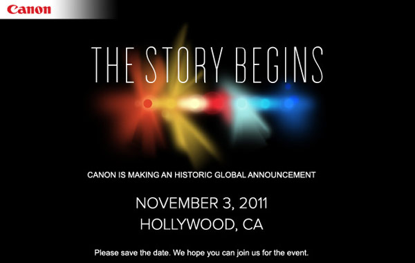 Canon November 3 Teaser for EOS C300