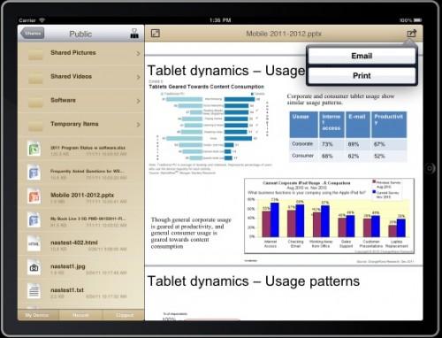 WD 2go iPad App