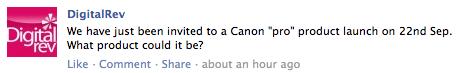 Canon Pro Announcement