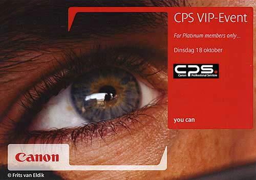 Canon CPS VIP Event