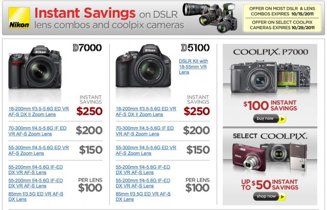 Nikon DSLR Rebates