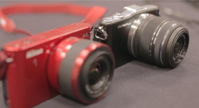Nikon J1 and Olympus E-PM1