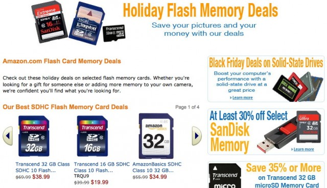 Amazon SD Card Black Friday