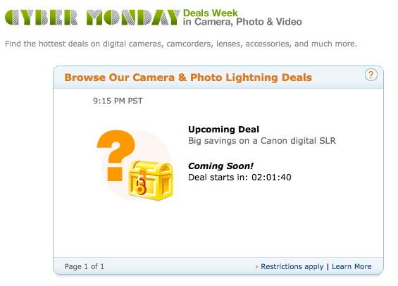 Canon DSLR Cyber Monday