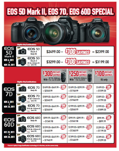 Canon DSLR Instant Rebates