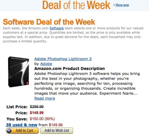 Lightroom Deal of the Week