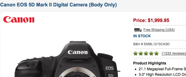 5D Mark II Deal