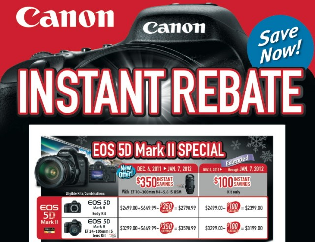 Canon 5D Mark II Instant Rebates