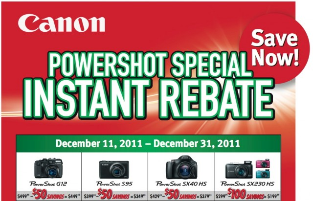 Canon Powershot Instant Rebate