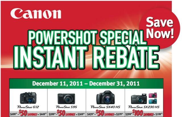 Canon Powershot Instant Rebate