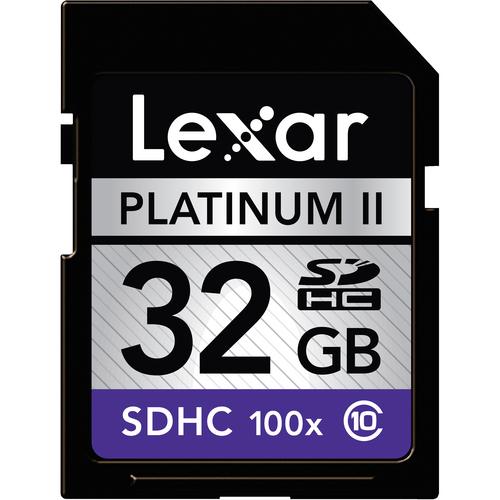 Lexar Platinum II SDHC Card Deal