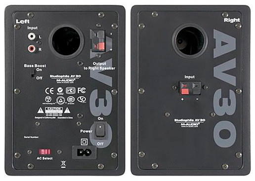 M-Audio AV30 Back