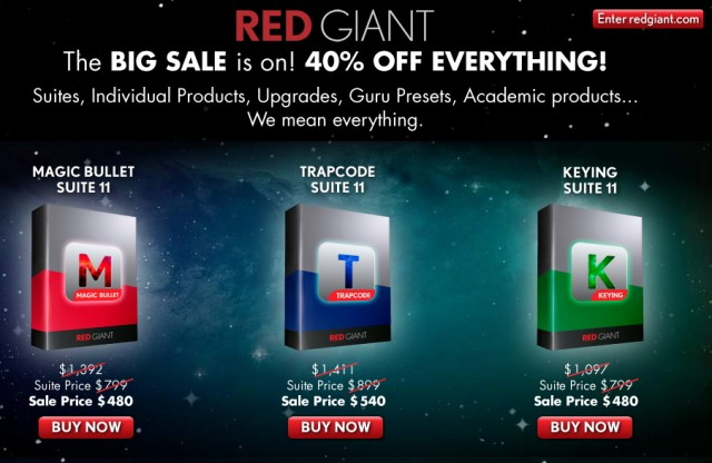 Red Giant Software Sale