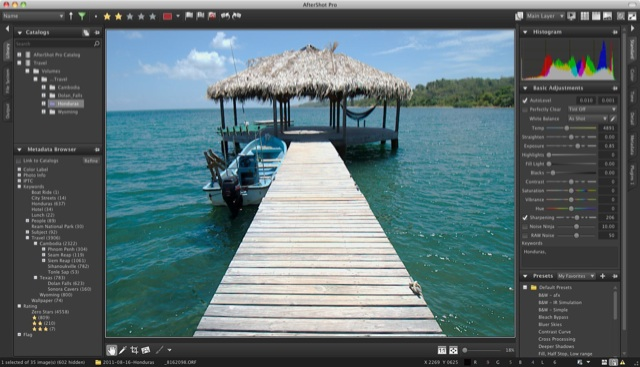 Corel AfterShot Pro User Interface with Directory View - Mac