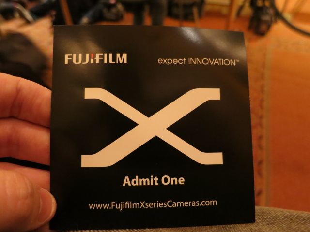 Fuji X-Series Press Event at CES 2012