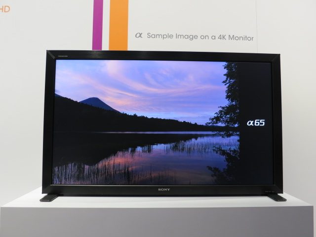 4K TV at Alpha Booth