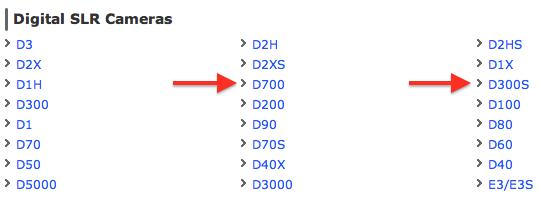Nikon D700 D300s discontinued