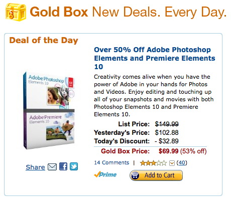 Goldbox Deal Photoshop Premiere Elements