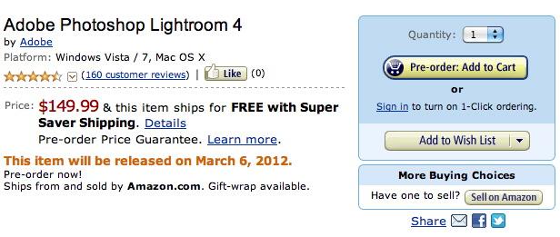 Lightroom 4 Pre-Order