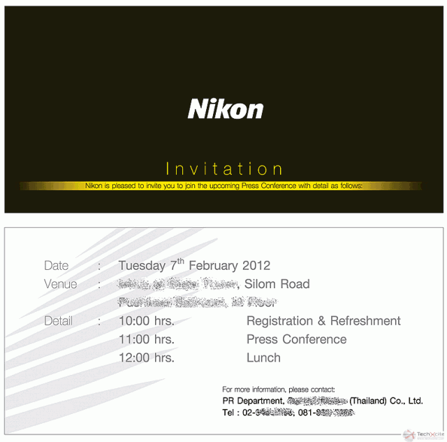 Nikon D800 Press Invite