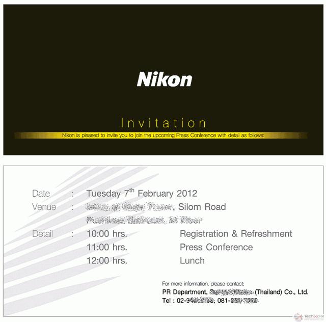 Nikon D800 Press Invite