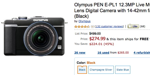 Olympus E-PL1 Sale