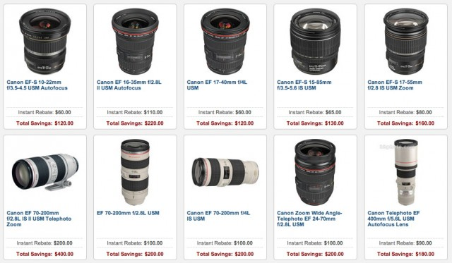 Canon Lens Double Rebates