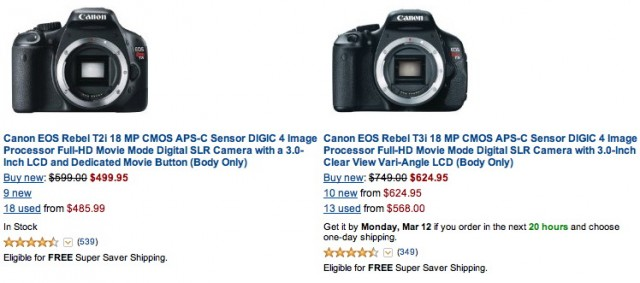 Canon Rebel T2i T3i Deals