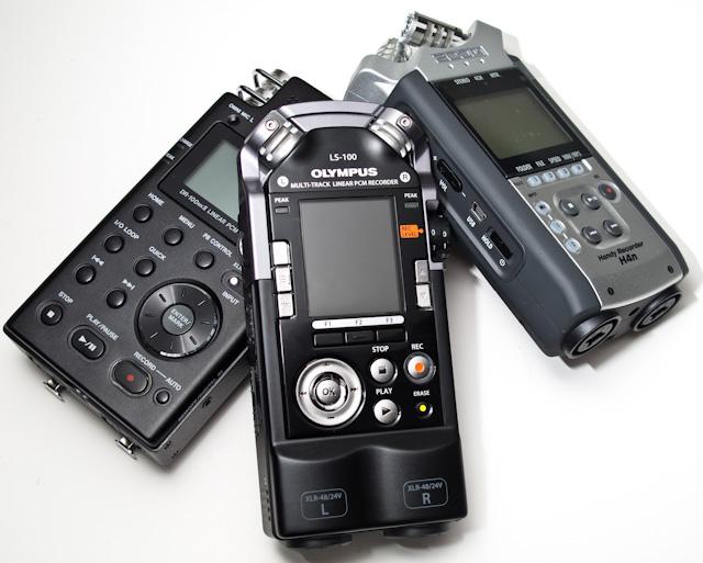 Zoom H4n, Tascam DR-100 MkII & Olympus LS-100