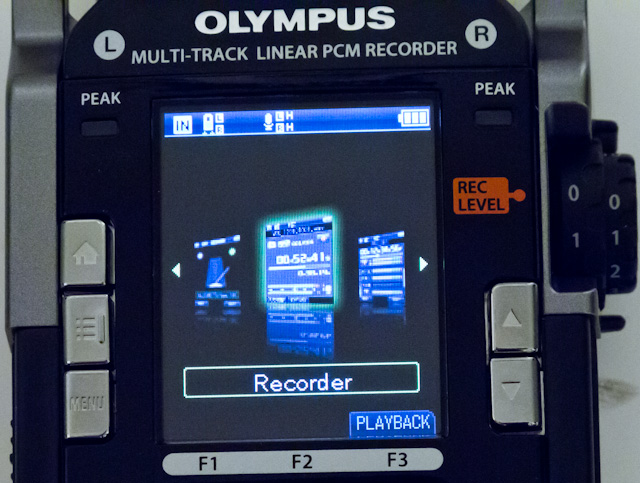 Olympus LS-100 Menu